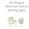 beatrice_otter: Cartoon Obi-Wan and Yoda: The thing is, there were just no warning signs. (Warning Signs)