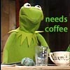flyakate: Grouchy Kermit with text (Stars get in your eyes John)