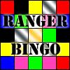 """prtropebingo: Ranger-coloured bingo word with the words: """"Ranger Bingo"""" (Power Rangers Trope Bingo)"""