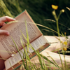 snottygrrl: books in the grass (reading outdoors by hermette)