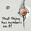 poisonarcana: A picture of GLaDOS' curiosity core being adorable. ([I'm doing science and I'm still alive])