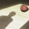 iwashere: Kuroko's shadow in a beam of light near a basketball. (Default)