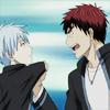 iwashere: Kagami pulling Kuroko up by his collar. (kagakuro: angry kagamin)