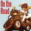 chomiji: The four leads from Saiyuki traveling in the Jeep, with the caption On the Road (saiyuki - trip)