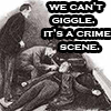 smithy: You can't giggle at a crime scene (Sherlock - can't giggle)