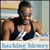 arduinna: Hardison from Leverage in goggles, gloves, and a tank top, working his magic (Hardison hacking history)