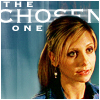 "deird1: Buffy, with text ""the Chosen One"" (Buffy chosen)"