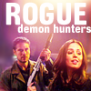 "deird1: Faith and Wesley, with text ""rogue demon hunters"" (Faith Wesley rogue demon hunters)"