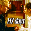 "deird1: Spike holding Buffy's hands, with text ""147 days"" (Spuffy 147)"