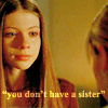 "deird1: Dawn upset with Buffy, with text ""you don't have a sister"" (Dawn sister)"