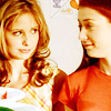 deird1: Buffy and Willow smiling at each other (Buffy Willow friends)