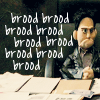 "deird1: puppet!Angel brooding, with text ""brood brood brood brood brood brood brood brood brood"" (PuppetAngel brood)"