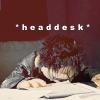 """deird1: puppet!Angel headdesking, with text """"*headdesk*"""" (PuppetAngel headdesk)"""