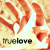 "deird1: Spike and Buffy's flamey hands, with text ""true love"" (Spuffy hands)"