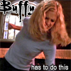 "deird1: Faith in Buffy's body, beating someone up, with text ""Buffy has to do this"" (Faith as Buffy)"