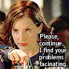 """deird1: Anya looking bored, with text """"Please, continue. I find your problems fascinating."""" (Anya problems)"""