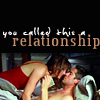 "deird1: Wes and Lilah in bed, with text ""you called this a relationship"" (Wes Lilah relationship)"