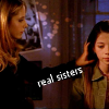 "deird1: Buffy and Dawn, with text ""real sisters"" (Buffy Dawn real sisters)"
