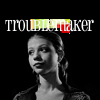 "deird1: Dawn, with text ""troublemaker"" (Dawn troublemaker)"