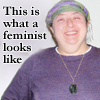mamadeb: this is what a feminst looks like (scarf, handmade sweater) (feminist)