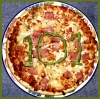 stapsdoes101things: Pizza with '101' marked out in green pimento (101food)