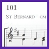 stapsdoes101things: detail of a hymnbook page showing hymn no. 101, tune 'St Bernard' (101music)
