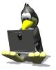 ginfancier: Writing penguin (Default)