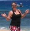 sadhbh: Me, on a white beach in Fiji, doing Jazz hands from happiness. (Fiji)