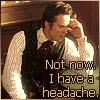 solosundance: not now I have a headache (ezra-headache)