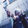 cru: (Nero pointing a gun at you)
