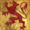 nightdog_barks: Red Scottish lion against a gold background (Red Lion)