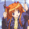 yes_im_kawaii: Makoto standing on the swings. (how do i swing)