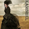 kambriel: Kambriel in her Moiré Midnight Bustle design ~ photographed by Tina Dolin (bustle, kambriel)