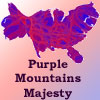 jadelennox: Purple Mountains Majesty: 2008 election cartogram shows we aren't as divided as all that. (politics: purple)