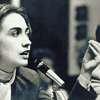 raven: black and white photograph of young Hillary Clinton (politics - look who we can grow up to be)