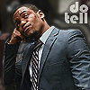 """muccamukk: Marcus looking unimpressed. Text: """"do tell"""" (Elementary: Do Tell)"""