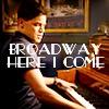 next_to_normal: Jeremy Jordan in Smash, playing the piano; text: Broadway here I come (Broadway here I come)