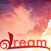 mmmag: Pink clouds with the word dream in the foreground. (Misc: dream)