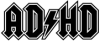 thnidu: ADHD, in the style of the AC/DC band logo (ADHD)