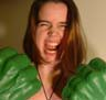 figment: Photo of me looking mad while wearing Incredible Hulk hands (hulk-hands)