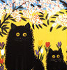 lurkingcat: From a painting by Maud Lewis (Three black cats)