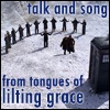 "xtina: Scene of Dr Who/Donna and the Ood, with Led Zeppelin text: ""talk and song from tongues of lilting grace"" (lace and grace)"