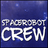 spacerobotcrew: A text icon with the words Spacerobot Crew over a deep blue starry background (Default)