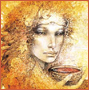 branchandroot: face in gold with bowl of shimmer (ascetic gold)