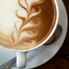 trouble: Pretty designs in the foam on top of tasty tasty coffee! (coffee art)