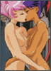 branchandroot: Anthy and Utena kissing (sensual kiss)