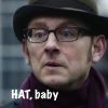 hedda62: Harold Finch in his HAT (hat baby)