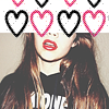 cosmotellurian: hearts (heartface)