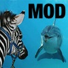 access_fandom_mods: a dolphin and a zebra gazing at each other, with MOD in corner (Default)