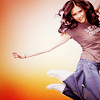shopfront: Source: Nina Dobrev, mid-jump and smiling. (RP [ND] - dance like you mean it)